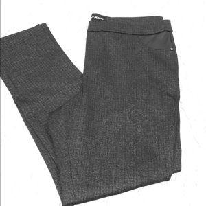 DKNY Jeans Ponte Pant Dark Grey Texture Skinny Leg